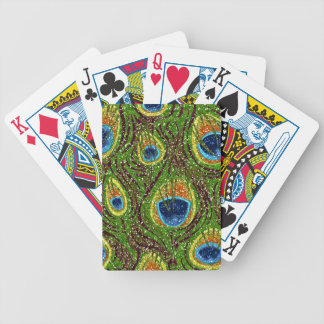 RAB Rockabilly Colorful Peacock Feathers Print Bicycle Playing Cards