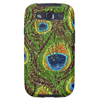 RAB Rockabilly Colorful Peacock Feathers Print Galaxy SIII Cover