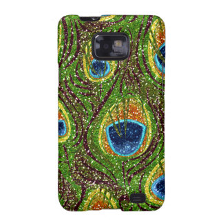 RAB Rockabilly Colorful Peacock Feathers Print Samsung Galaxy S2 Cover