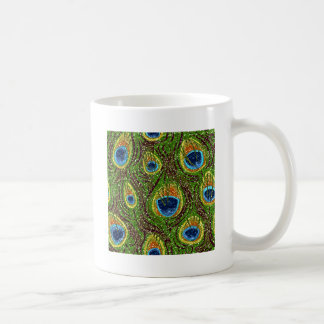 RAB Rockabilly Colorful Peacock Feathers Print Mugs