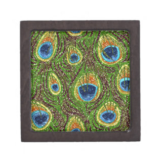 RAB Rockabilly Colorful Peacock Feathers Print Premium Gift Boxes