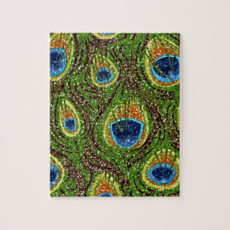 RAB Rockabilly Colorful Peacock Feathers Print Puzzles