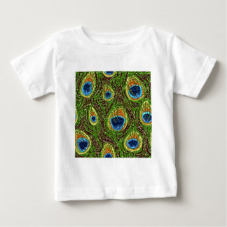 RAB Rockabilly Colorful Peacock Feathers Print T-shirts