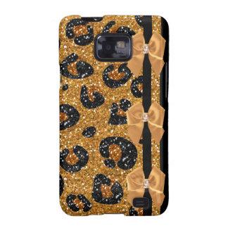 RAB Rockabilly Gold Leopard Print Sugar Skulls Samsung Galaxy S2 Covers