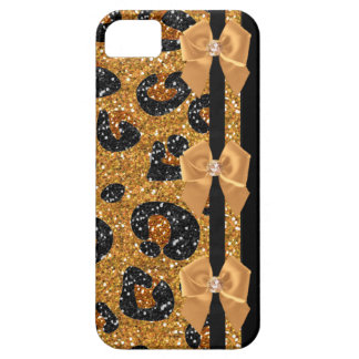 RAB Rockabilly Gold Leopard Print Sugar Skulls iPhone SE/5/5s Case