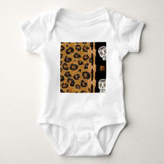 RAB Rockabilly Gold Leopard Print Sugar Skulls Tshirts