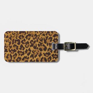 RAB Rockabilly Leopard Print Brown Gold Bag Tag