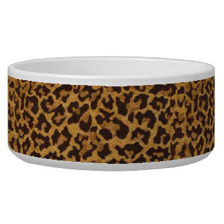 RAB Rockabilly Leopard Print Dog Bowl