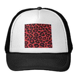 RAB Rockabilly Leopard Print Red Black Trucker Hat