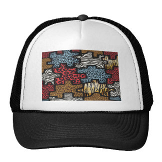 RAB Rockabilly Leopard Zebra Puzzle Print Gifts Trucker Hat