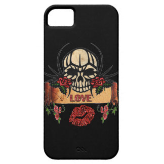 RAB Rockabilly Skull Roses Love Lipstick iPhone SE/5/5s Case