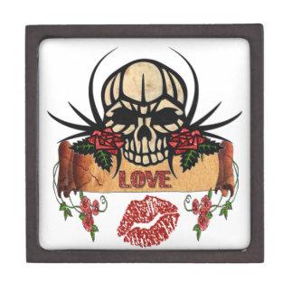RAB Rockabilly Skull Roses Love Lipstick Premium Keepsake Boxes