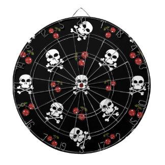 RAB Rockabilly Skulls and Cherries on Black Dartboards