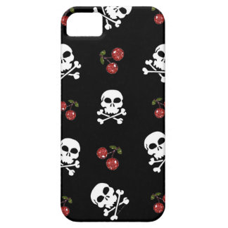 RAB Rockabilly Skulls and Cherries on Black iPhone SE/5/5s Case