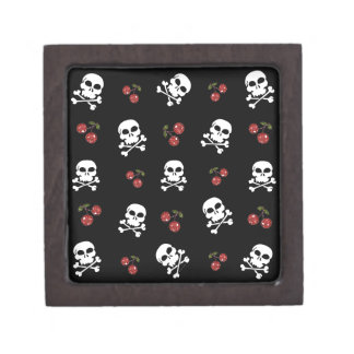 RAB Rockabilly Skulls and Cherries on Black Premium Gift Boxes