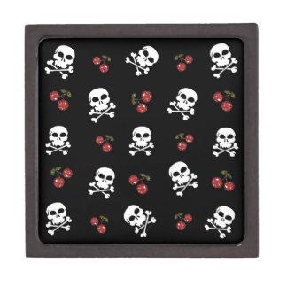RAB Rockabilly Skulls and Cherries on Black Premium Jewelry Boxes