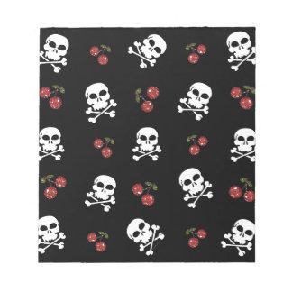 RAB Rockabilly Skulls and Cherries on Black Scratch Pads