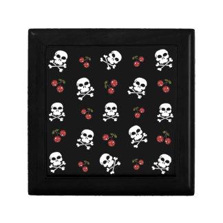 RAB Rockabilly Skulls and Cherries on Black Trinket Boxes
