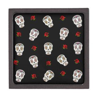 RAB Rockabilly Sugar Skulls Roses On Black Premium Jewelry Boxes