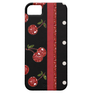RAB Rockabilly Very Cherry Cherries Black iPhone SE/5/5s Case