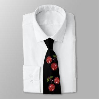 RAB Rockabilly Very Cherry Cherries On Black Neck Tie