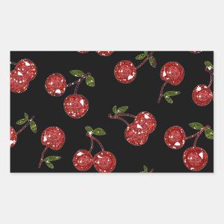 RAB Rockabilly Very Cherry Cherries On Black Rectangular Sticker