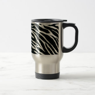 RAB Rockabilly Zebra Print Black & White 15 Oz Stainless Steel Travel Mug