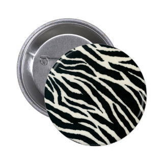 RAB Rockabilly Zebra Print Black & White 2 Inch Round Button