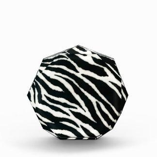 RAB Rockabilly Zebra Print Black & White Acrylic Award