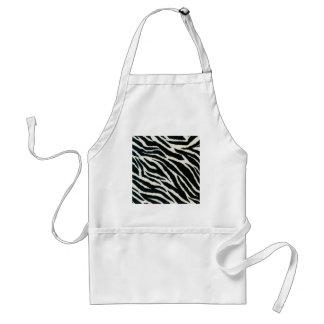 RAB Rockabilly Zebra Print Black & White Adult Apron
