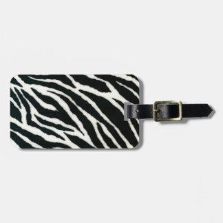 RAB Rockabilly Zebra Print Black & White Bag Tags