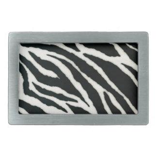 RAB Rockabilly Zebra Print Black & White Belt Buckles