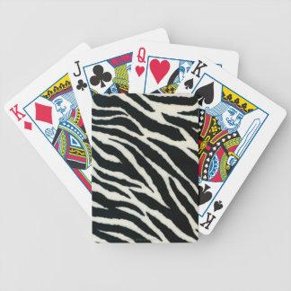 RAB Rockabilly Zebra Print Black & White Bicycle Playing Cards