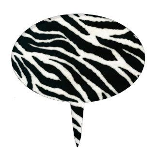 RAB Rockabilly Zebra Print Black & White Cake Topper