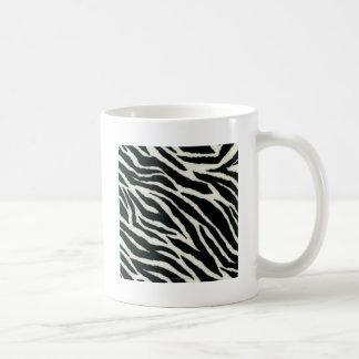 RAB Rockabilly Zebra Print Black & White Classic White Coffee Mug