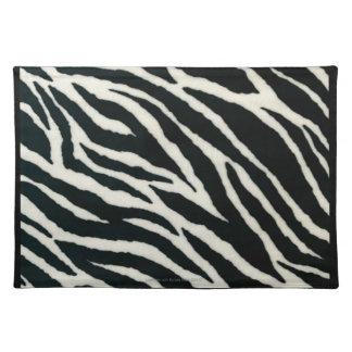 RAB Rockabilly Zebra Print Black & White Cloth Place Mat