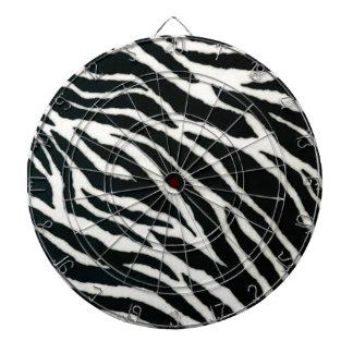 RAB Rockabilly Zebra Print Black & White Dartboard With Darts