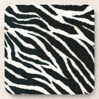 RAB Rockabilly Zebra Print Black & White Drink Coasters