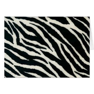 RAB Rockabilly Zebra Print Black & White Greeting Card