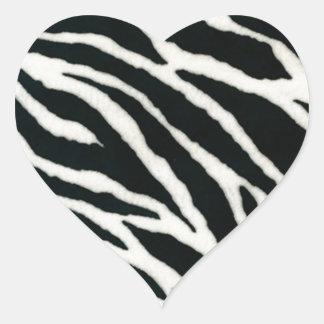 RAB Rockabilly Zebra Print Black & White Heart Sticker