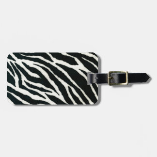 RAB Rockabilly Zebra Print Black & White Luggage Tag
