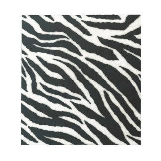 RAB Rockabilly Zebra Print Black & White Memo Pads