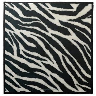 RAB Rockabilly Zebra Print Black & White Napkins