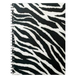 RAB Rockabilly Zebra Print Black & White Note Books