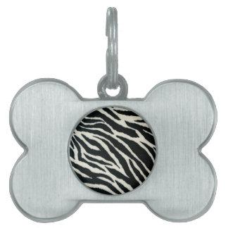 RAB Rockabilly Zebra Print Black & White Pet ID Tag
