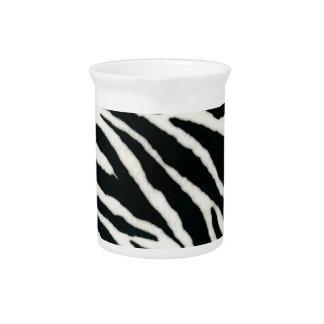 RAB Rockabilly Zebra Print Black & White Pitchers
