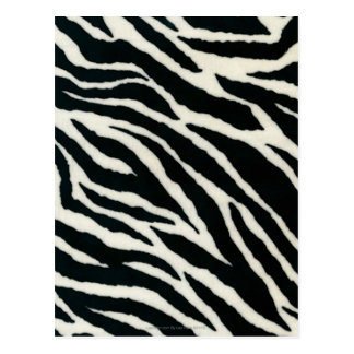 RAB Rockabilly Zebra Print Black & White Postcard