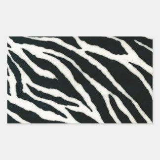 RAB Rockabilly Zebra Print Black & White Rectangular Sticker