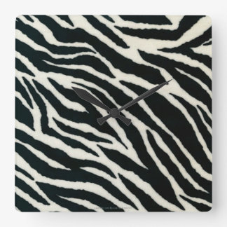 RAB Rockabilly Zebra Print Black & White Square Wall Clock