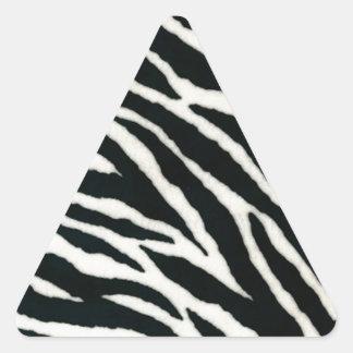 RAB Rockabilly Zebra Print Black & White Triangle Sticker